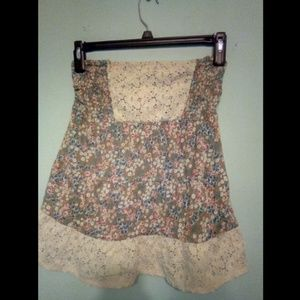 Decree Tops - Strapless floral top
